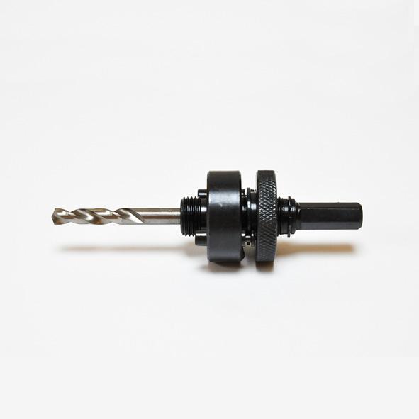 Hållare, skaft 3/8 (9,5, mm) med borr för hålsåg Ø 32-152 mm