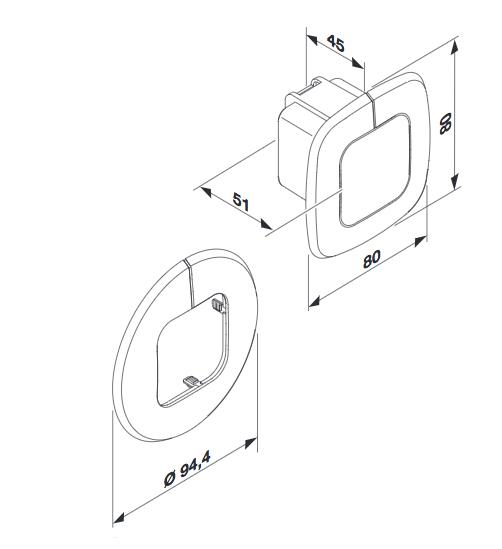 Måttskiss Control Pro SLIM XS