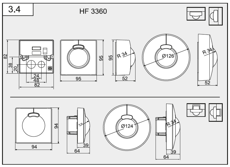 Måttskiss HF 3360